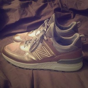 Rose Gold Women's New Balance Sneakers